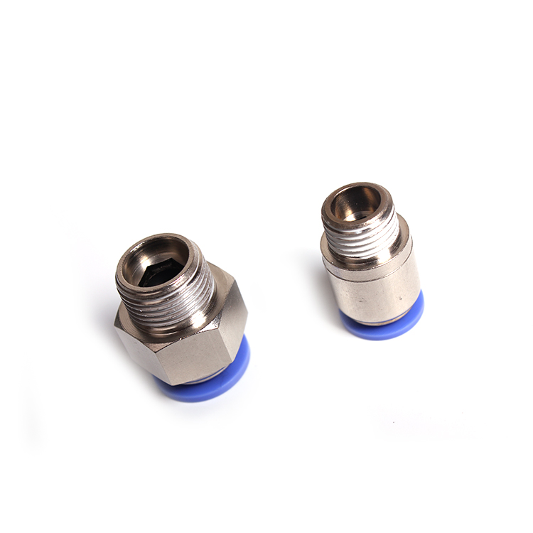 Free sample high quality brass male straight plastic threaded pipe joint